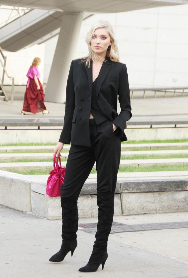 女性也可以帅气又潇洒,英伦三件套复古时尚,秋季这么穿太新潮-第13张