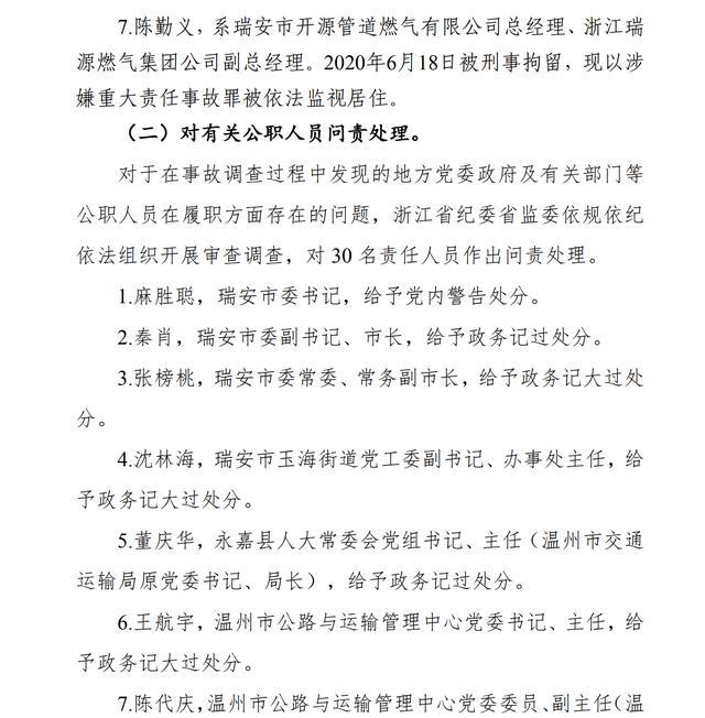 浙江油罐车爆炸致20死 30人被问责