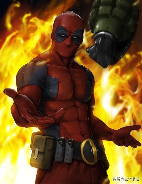 Marvel漫画人物:死侍(Deadpool)插画欣赏