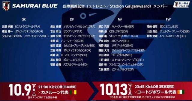 """有点酸!日本国家队新一期集训名单出炉,久保建英领衔""""全洋班""""-第1张"""
