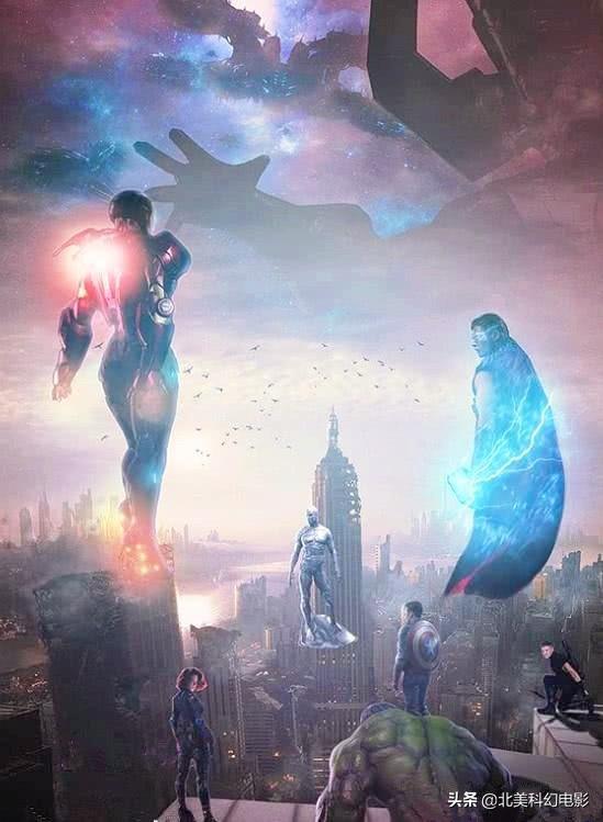 《复仇者联盟4》概念海报,神奇四侠与银影侠加入