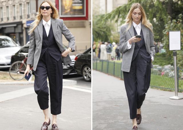 女性也可以帅气又潇洒,英伦三件套复古时尚,秋季这么穿太新潮-第10张