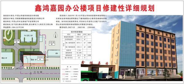 平顶山鑫鸿嘉园办公楼修建规划公示 紧邻三七街6层建筑插图