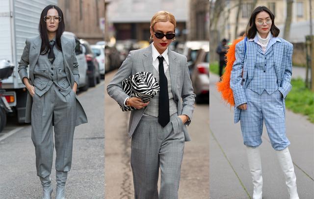 女性也可以帅气又潇洒,英伦三件套复古时尚,秋季这么穿太新潮-第1张