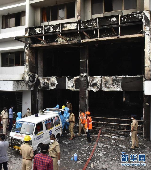 印度一新冠患者收治点发生火灾 至少7人死亡