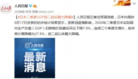 日本二季度GDP创二战后最大降幅www.smxdc.net