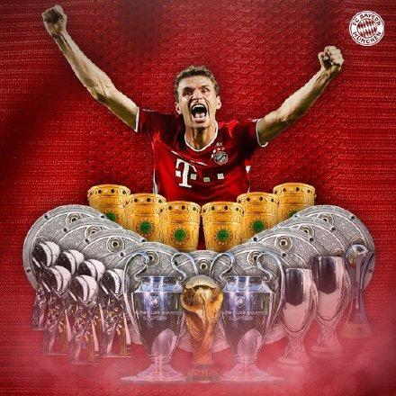 27冠!穆勒成为史上夺冠数最多的德国球员-第1张