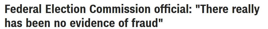 美国联邦选举委员会主席:没有选举舞弊和非法投票的证据 全球新闻风头榜 第1张