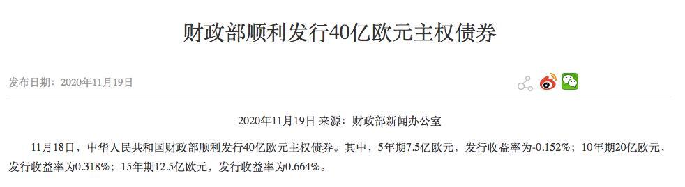 真香!中国负利率主权债被国际投资者抢购