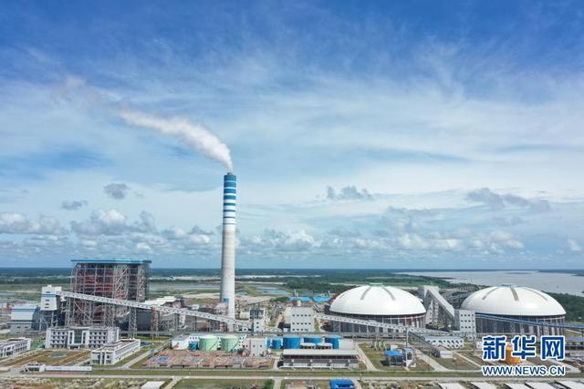 帕亚拉2×660万千瓦超超超临界萃取原煤发电厂(无人机航拍)