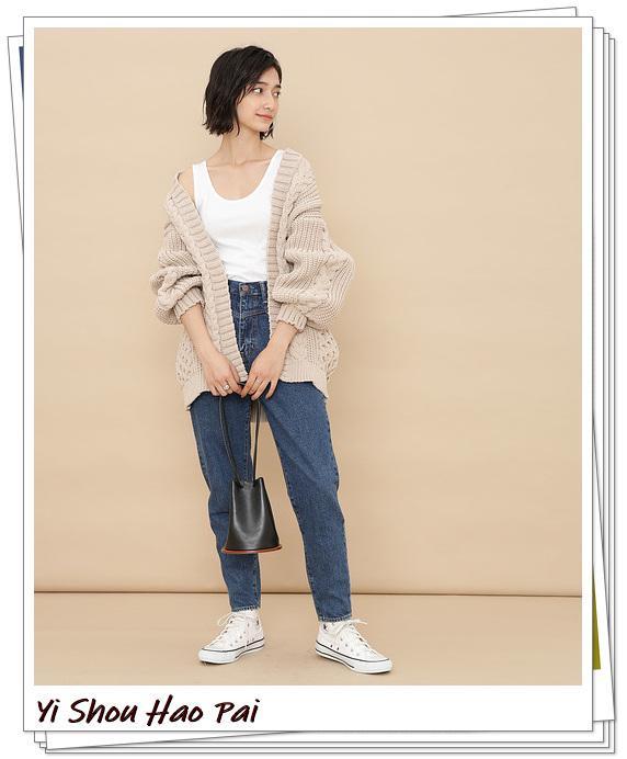 米色开衫的秋季搭配精选!24种你值得尝试的优雅穿搭-第12张