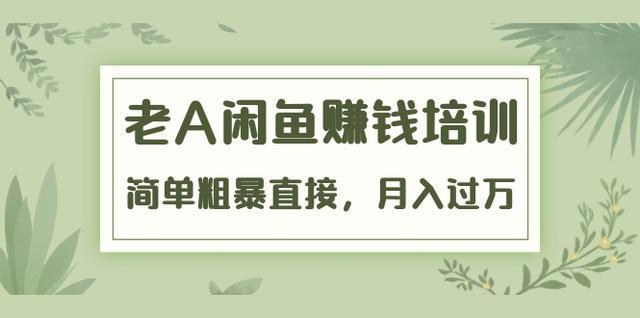 老A《闲鱼赚钱培训》简单粗暴直接,月入过万真正的闲鱼战术实课(51节课)