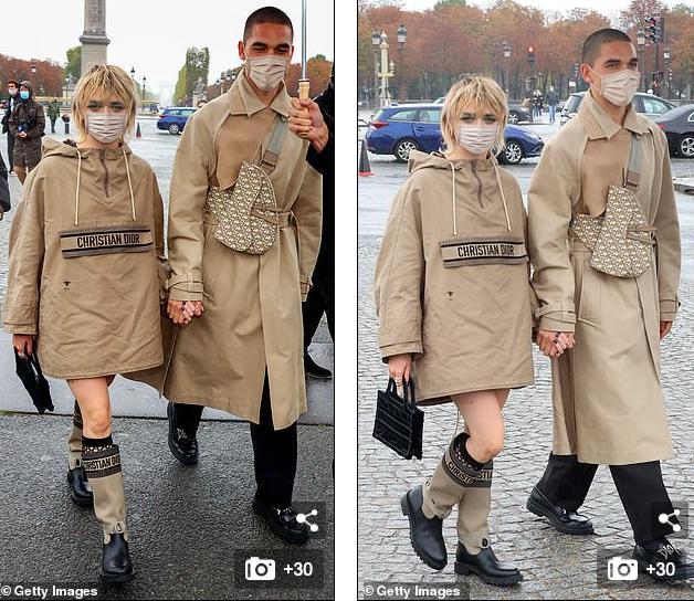 LV少奶婚后首秀Dior巴黎春夏,孟美岐云上看秀穿出一身清流-第14张