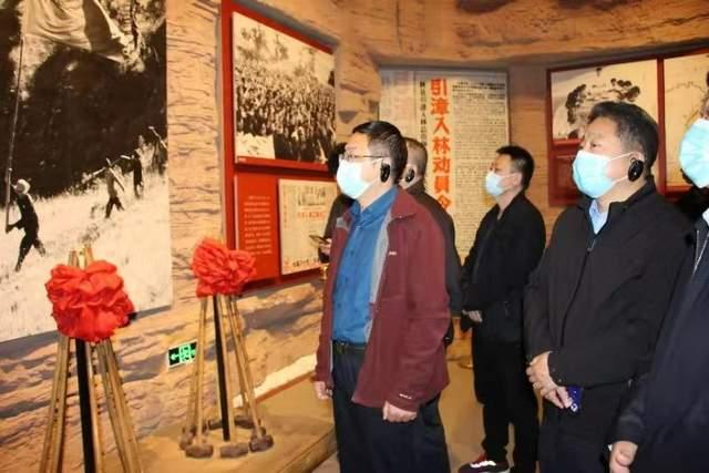 河南省公安厅指导组带领安阳高新分局赴红旗渠参观见学