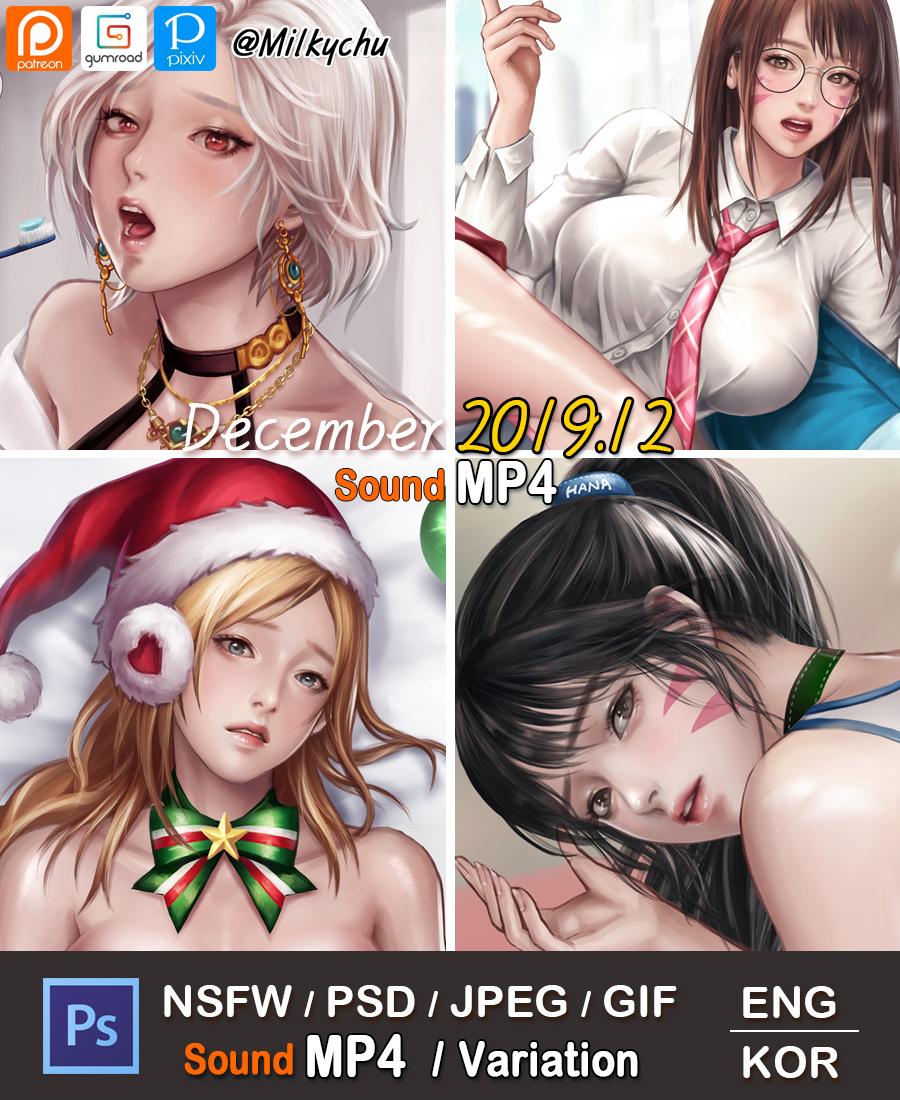 韩国画师Milkychu 2019.12插画作品