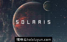 平直的字体 Solaris – Futuristic Font #176901