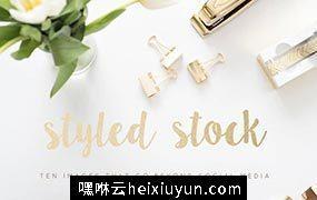 高清时尚风格场景照片素材Styled-Gold-Stock-Images