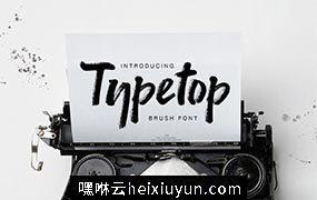 手绘大气书法英文字体 Typetop Font #1205574