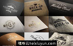 Logo设计纸张印刷展示样机 Logo Mock-Up Set #280872
