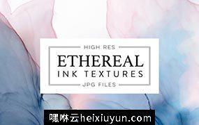 水墨运动背景纹理素材 Ethereal Ink Texture #2544286