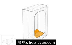 显示窗口的盒子模切图/刀模图EPS源文件
