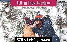 100+真实下雪PS叠加效果高清素材 Natural Snow Overlays #957478