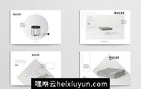 一组简约家居杂货明信片传单模版BULEE – Postcard #2338346