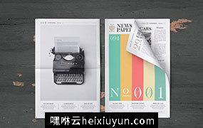 10款高清高分辨率报纸样机模板 Newspaper Mock-Ups