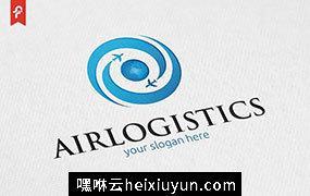 航空物流主题标志Logo模板 Air Logistics Logo #658765