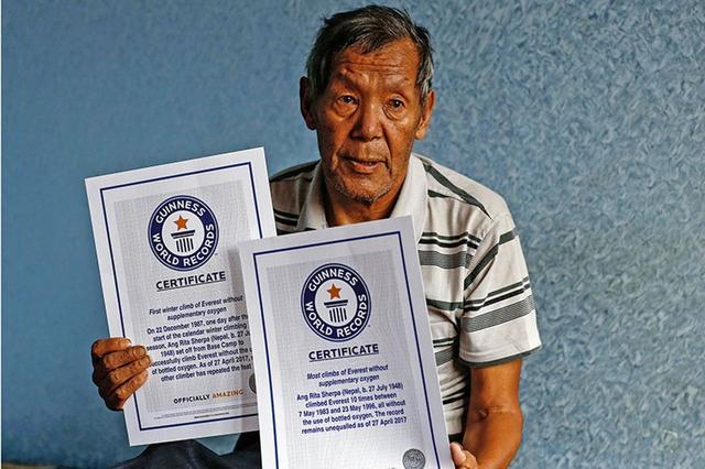"""尼泊尔的传奇人物""""雪豹""""病逝,曾10次无氧攀珠峰创世界纪录"""