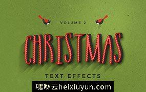 圣诞节图层样式 Christmas Text Effects #111317