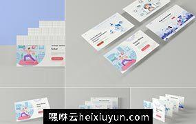 时尚高端3D立体屏幕web banner网站3d-screen-mockups #337099