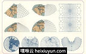 复古地图和网格Vintage Maps and Grids #2608053