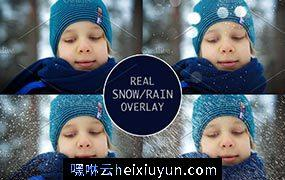 真实下雪下雨素材 Real Snow-Rain overlays #2050465