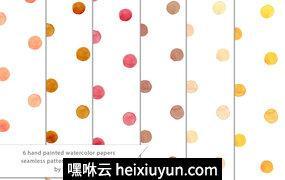 水彩圆点背景Watercolor Dots