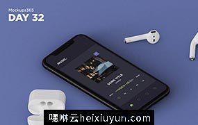 iphone X苹果手机显示设备贴图样机透视图模型Mockups 32