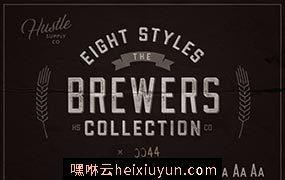 复古正式的字体 The Brewers Font Collection #1279892