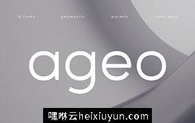 由Eko Bimantara设计的几何无衬线字体系列 Ageo #3458946
