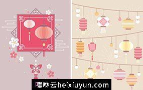 2018新年春节矢量海报Happy New Year Vector#2018012306
