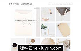 极简主义简约时尚照片样机模板 Stock Photo Bundle | Minimalist #55756
