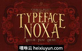 Noxa-4 Vintage-显示字体Noxa – 4 Vintage -amp; Display Fonts #2212932