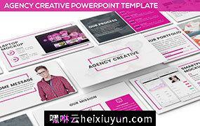 创意的公司介绍类PPT模板Agency Creative Powerpoint #70687