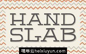 经典的英文字体 HandSlab #188