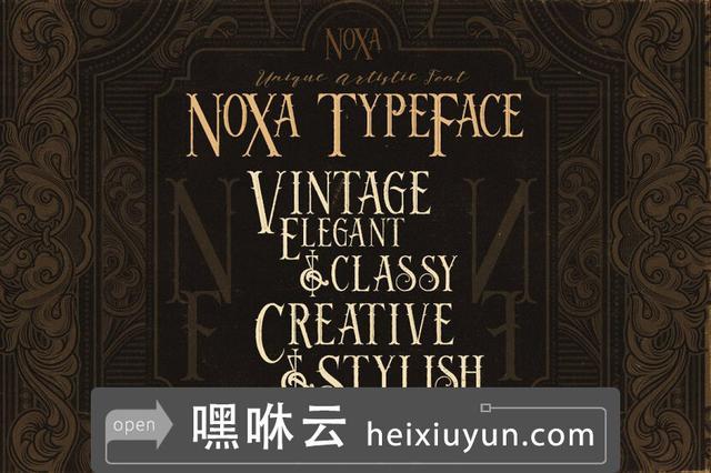 嘿咻云-Noxa-4 Vintage-显示字体Noxa - 4 Vintage -amp; Display Fonts #2212932