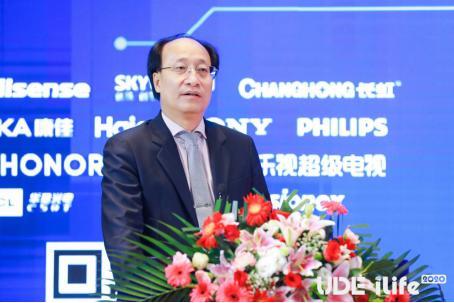图:中国电子视像行业协会会长/创维集团总裁 刘棠枝