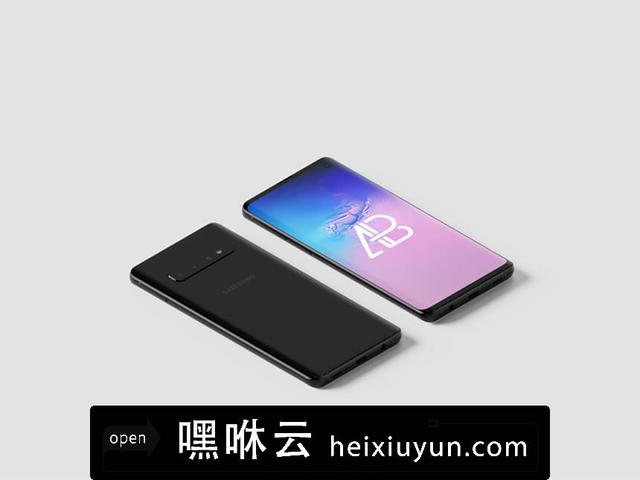 嘿咻云-三星s10手机等距视角样机模版 Samsung Galaxy S10 Isometric Mockup Vol.2