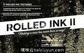 滚动的墨水纹理II Rolled ink textures #61684