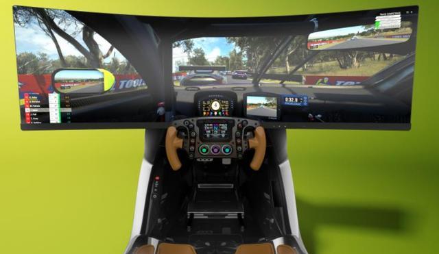 国际新研发:电竞领域的全碳纤维硬壳的赛车模拟器