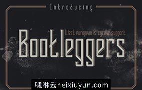 高端复古字体 Bootleggers vintage typeface #1178503