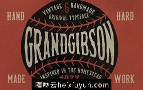 复古的字体 GrandGibson Typeface #115174